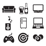 Man Favorite Activities Icons Royalty Free Stock Image