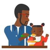 Man feeding baby. Royalty Free Stock Photos