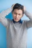 Man feel headache Royalty Free Stock Photo