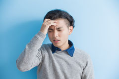 Man feel headache Stock Photo