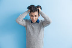 Man feel headache Stock Photography