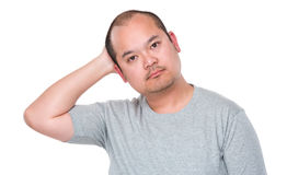 Man feeling confused Stock Image