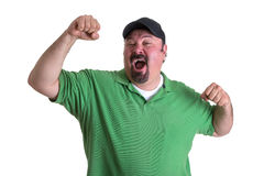 Man Feeling So Good After Winning Something Royalty Free Stock Photo