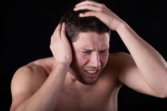 Man feeling headache Royalty Free Stock Photography