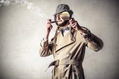 Man feeling an investigator Royalty Free Stock Photography