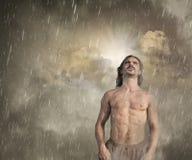 Free Man Feeling Lost In The Rain Stock Photos - 21828553