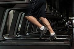 Man Feet On Treadmill Royalty Free Stock Photography