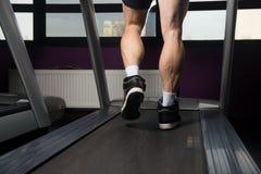 Man Feet On Treadmill Royalty Free Stock Photo