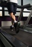 Man Feet On Treadmill Stock Photography