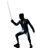 Man fencing silhouette Stock Images