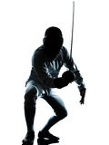 Man fencing silhouette Royalty Free Stock Images