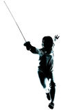 Man fencing silhouette Royalty Free Stock Photos