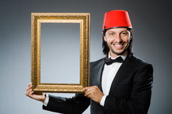 Man with fez  hat Royalty Free Stock Photography