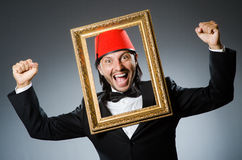 Man with fez  hat Stock Photo