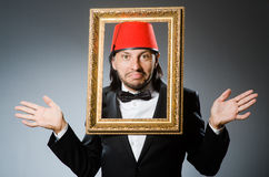 Man with fez  hat Stock Photos