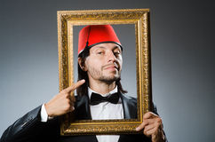 Man with fez  hat Royalty Free Stock Image