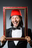 Man with fez  hat Royalty Free Stock Photo
