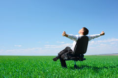 Man in field Royalty Free Stock Photo