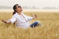 Man in field Royalty Free Stock Image