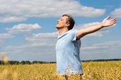 man at field Stock Image