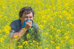 Man in field Stock Photos