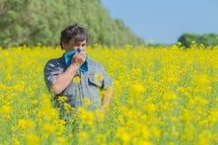 Man in field Stock Photo