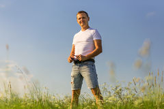 Man on the field. Stock Photography