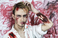 Man after fight Royalty Free Stock Photography