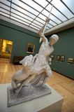 Man fighting a beast. Greek sculptures and statutes at Ny Carlsberg Glyptotek Stock Images
