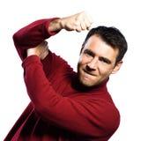 Man fighting gesture Stock Image