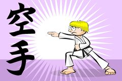 Man fighting karate Royalty Free Stock Image