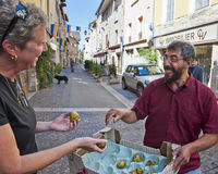 Man With Figs in Cremieu Royalty Free Stock Image