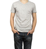 Man figure in gray shirt Stock Photography