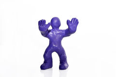Man figure made from plasticine. Isolated on white background Stock Photography