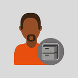 Man file cabinet icon design graphic. Illustration Royalty Free Stock Photography
