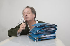 Man with Files Royalty Free Stock Photos