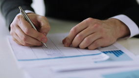 Man filling a form Stock Photography