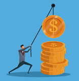 Man financial business money gold work Royalty Free Stock Photo
