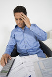 Man with Financial Headache Stock Photos