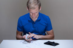 Man with financial problems Royalty Free Stock Photo
