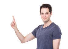 Man with finger point out Stock Photography