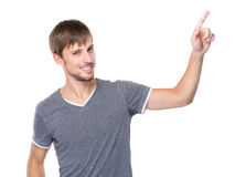 Man with finger up Royalty Free Stock Image