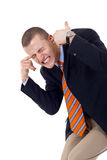 Man with fingers in ears Royalty Free Stock Photography