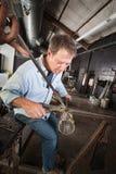 Man Finishing Vase Stock Photography
