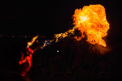 Man fire-eater Stock Photography