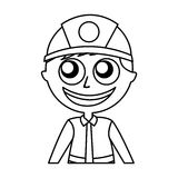 Man firefighter avatar character icon Royalty Free Stock Photos