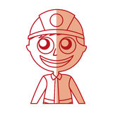 Man firefighter avatar character icon. Vector illustration design Royalty Free Stock Image