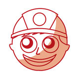 Man firefighter avatar character icon Stock Photography
