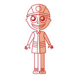 Man firefighter avatar character icon Stock Photos