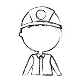Man firefighter avatar character icon. Vector illustration design Royalty Free Stock Photography